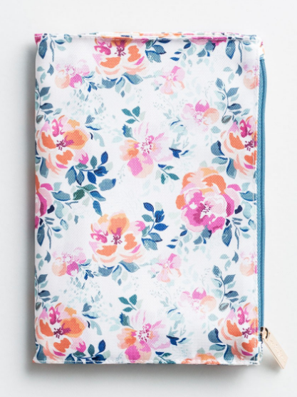 Floral Zip Pouch Journal - Savannah