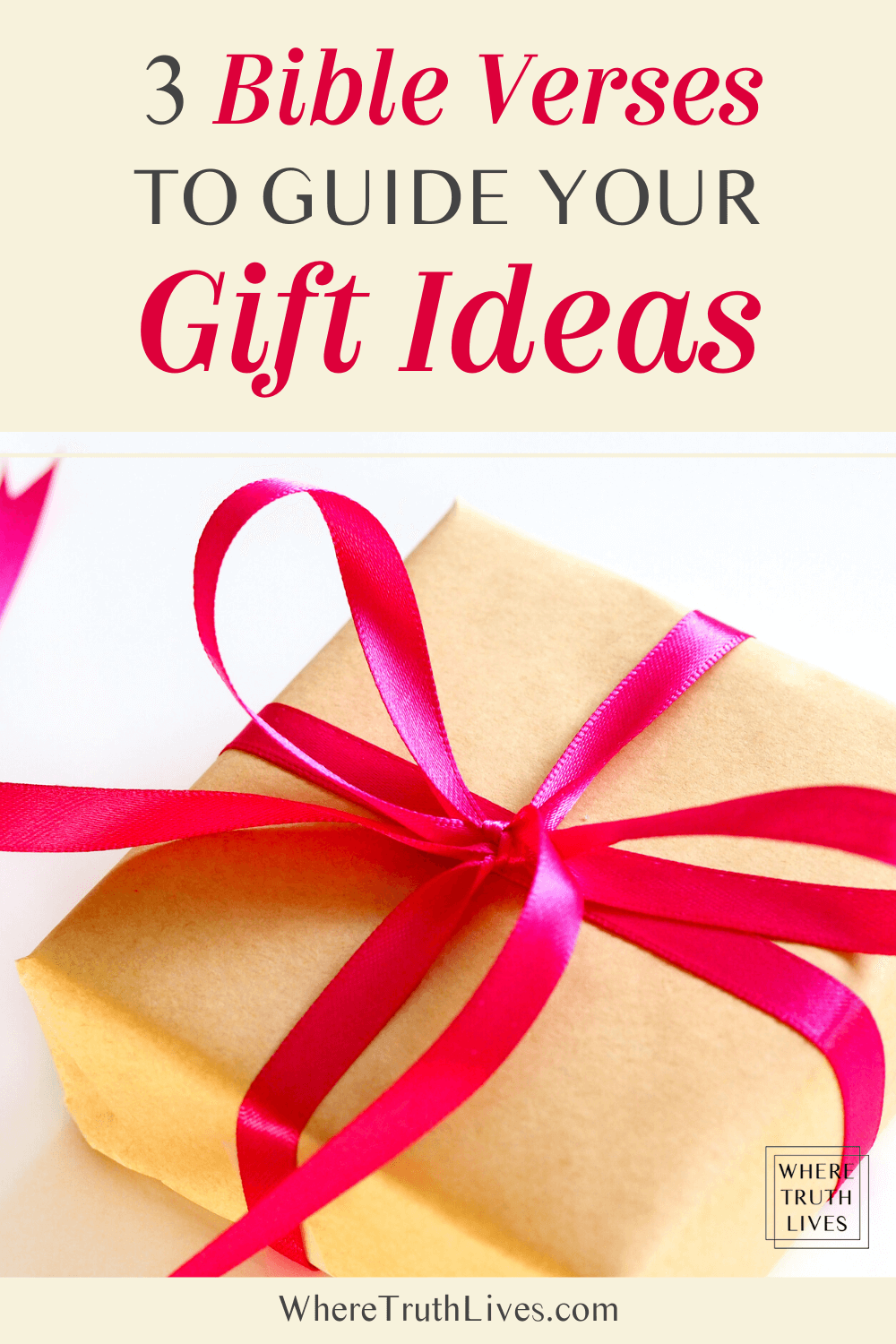 Free Printable Gift Planner | Coming up with gift ideas that reflect the generosity of God is easy when you follow these three biblical principles… | 3 Bible Verses To Guide Your Gift Giving | Where Truth Lives .com | Christian living blog | Christian gifts, gift guide, Scripture