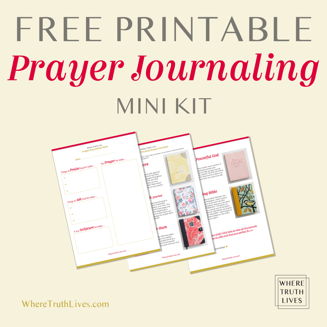 Do you struggle to pray regularly, deeply or thankfully? Writing your prayers is powerful. Here are 3 reasons why you really need a prayer journal... | Where Truth Lives .com | Christian blog, free printable, prayer journaling, pray