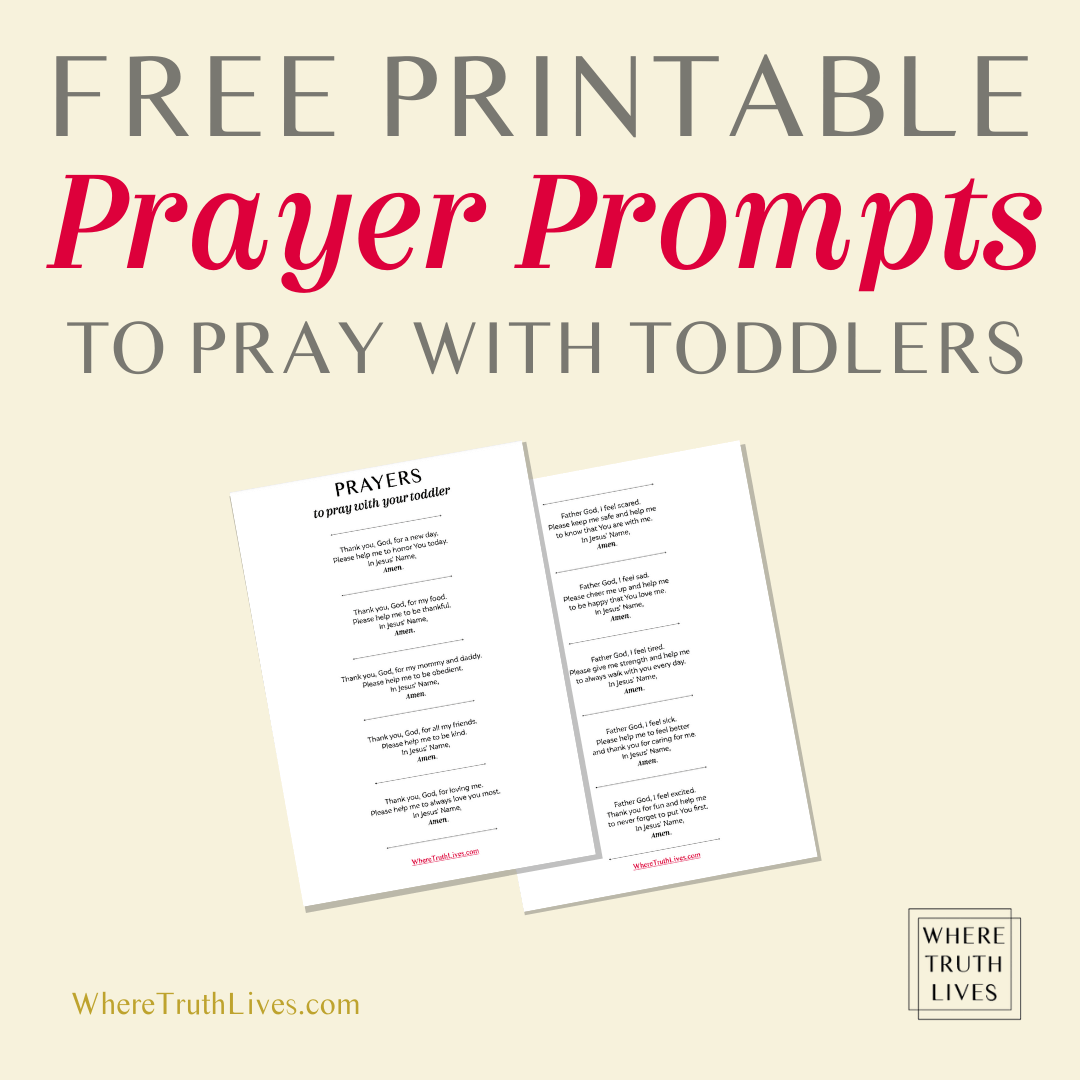 Free printable sample prayers to pray with your toddler...