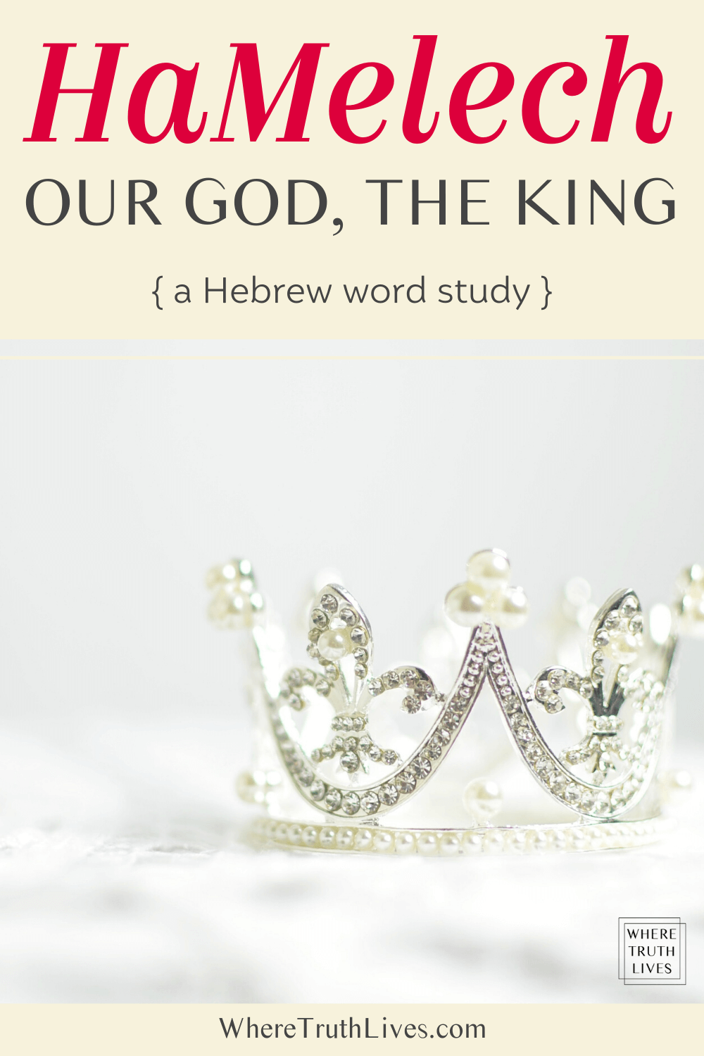 A short Hebrew word study on HaMelech, the King, looking at both the Old Testament and New Testament to discover and declare that our God reigns - forever!