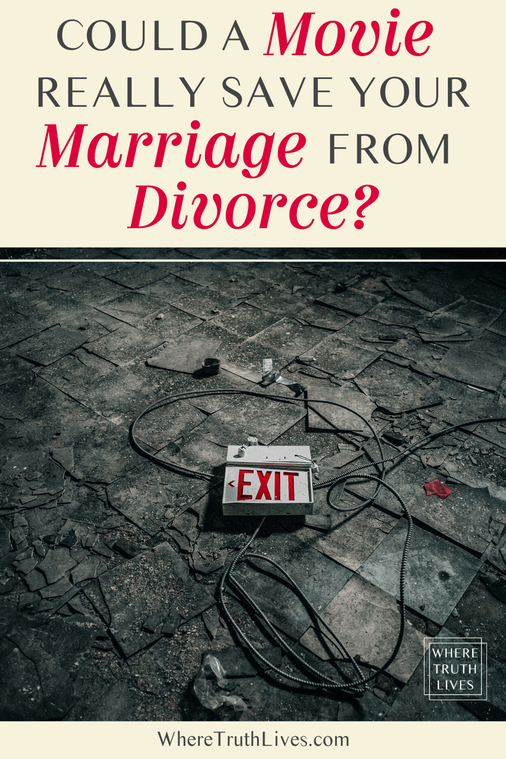 Is your marriage stale or struggling? Discover how a movie could be the unlikely tool that gets your relationship back on track and saves your marriage from divorce… | Could a Movie Really… Save Your Marriage From Divorce? | Where Truth Lives .com | Fireproof, Christian movies, marriage, divorce, Christian, movie, Kirk Cameron