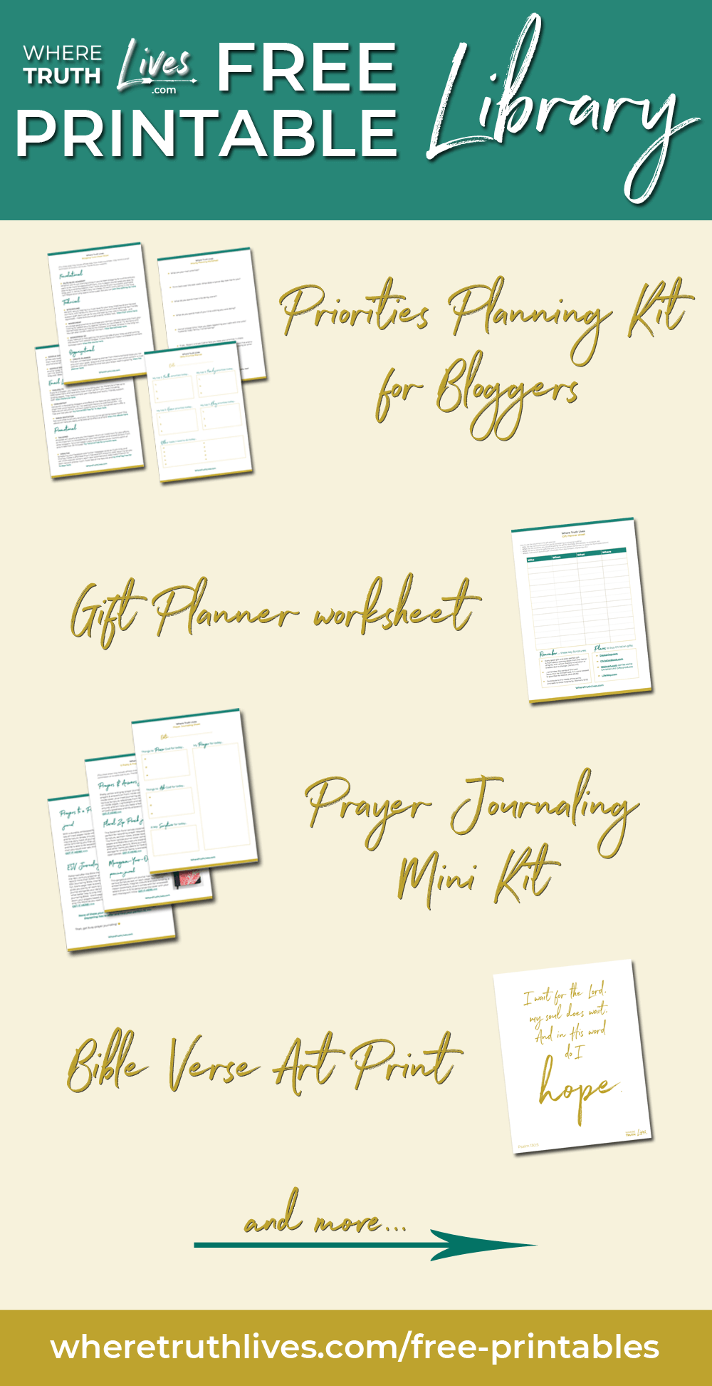 Free Printables for Christian women who want to impact the world by living the Word.