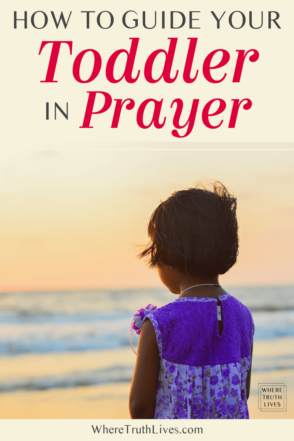 Toddler prayer is wonderful! Here are 3 key principles that will help you pray with your toddler, plus some free printable sample prayers...